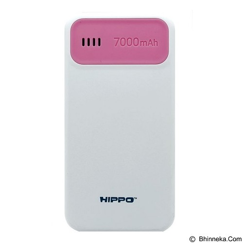 HIPPO Power Bank Atlas Mini 7000mAh Value Pack - Pink (Merchant) - Portable Charger / Power Bank