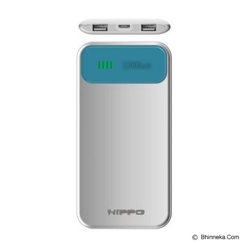 HIPPO Power Bank Atlas Simple Pack 12000mAh - Blue/White - Portable Charger / Power Bank