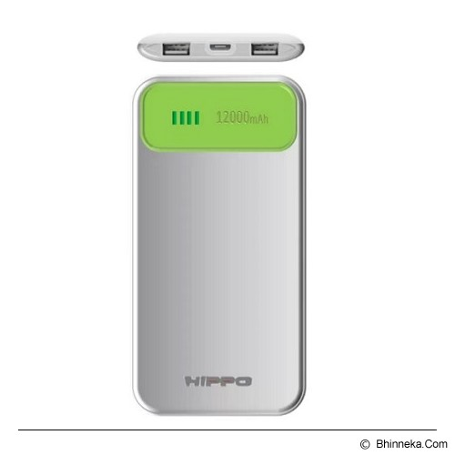 HIPPO Power Bank Atlas Value Pack 12000mAh - Green/White - Portable Charger / Power Bank