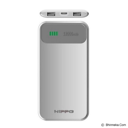 HIPPO Power Bank Atlas Value Pack 12000mAh - Grey/White - Portable Charger / Power Bank