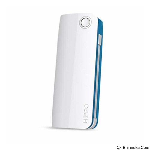 HIPPO Power Bank Snow White 2 6000 mAh Simple Pack - White/Blue - Portable Charger / Power Bank