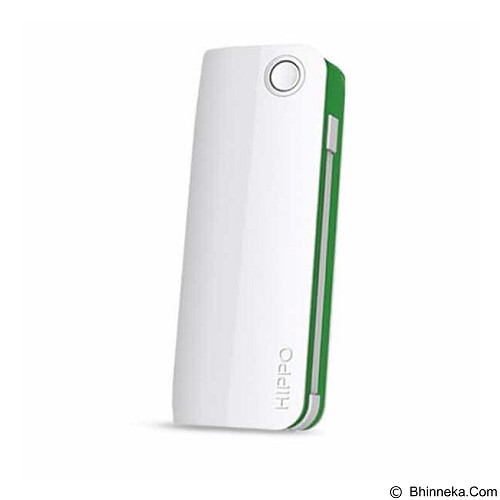 HIPPO Power Bank Snow White 2 6000 mAh Simple Pack - White/Green - Portable Charger / Power Bank