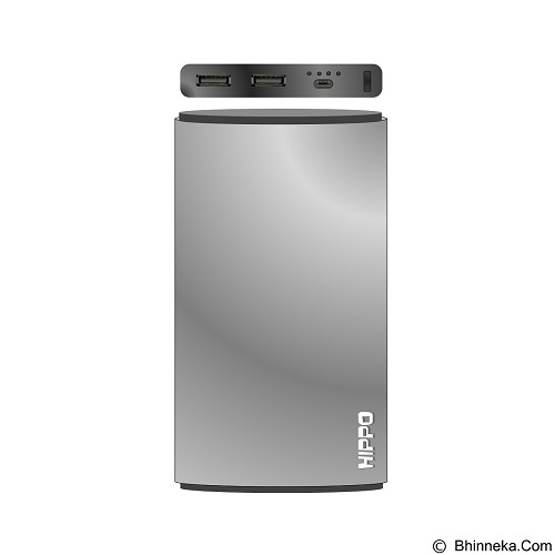 HIPPO Power Bank Steel 12000mAh Simple Pack - Silver (Merchant) - Portable Charger / Power Bank