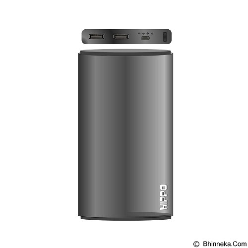 HIPPO Power Bank Steel 12000mAh Value Pack - Grey (Merchant) - Portable Charger / Power Bank