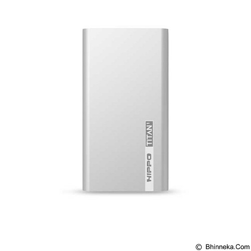 HIPPO Power Bank Titan1 6000 mAh Simple Pack - Silver - Portable Charger / Power Bank