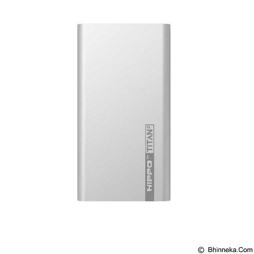HIPPO Power Bank Titan2 12000 mAh Simple Pack - Silver - Portable Charger / Power Bank