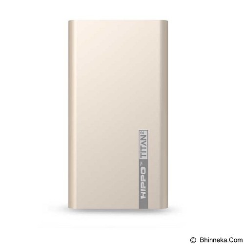 HIPPO Power Bank Titan2 12000mAh Value Pack - Gold (Merchant) - Portable Charger / Power Bank