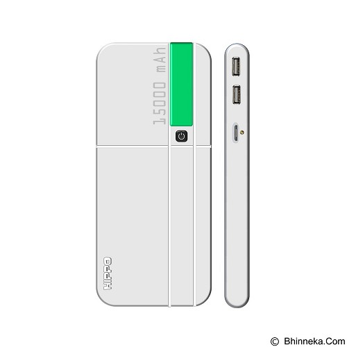 HIPPO Powerbank GEMS 15000mAh - Green (Merchant) - Portable Charger / Power Bank