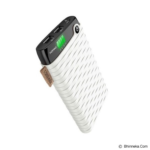 HIPPO Powerbank NOHA2 Simple Pack 12000mAh - White - Portable Charger / Power Bank