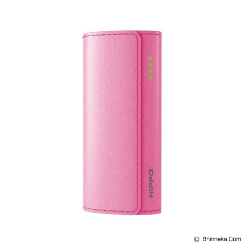 HIPPO Powerbank NUC Mini Value Pack 5600mAh - Pink - Portable Charger / Power Bank