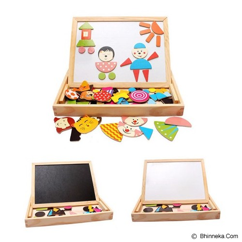 HOKIDONG Papan Tulis Magnet [WB-BOARD1-WY] - Wooden Toy