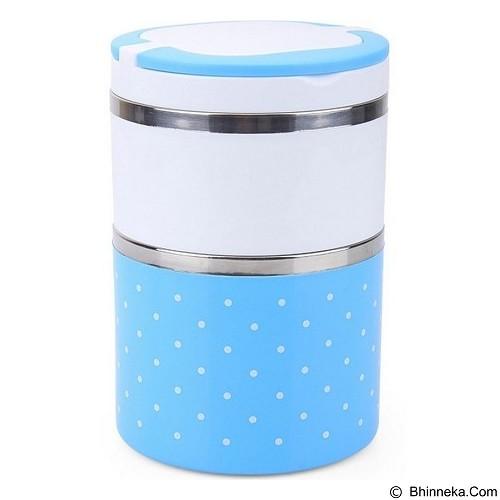 HOMIO Lunch Box Rantang 2 Susun + Pegangan - Blue - Lunch Box / Kotak Makan / Rantang