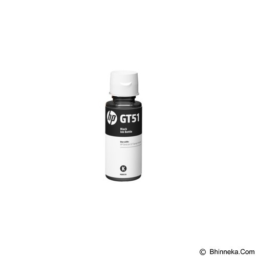 HP Black Ink Bottle GT51 [M0H57AA] - Tinta Printer Hp