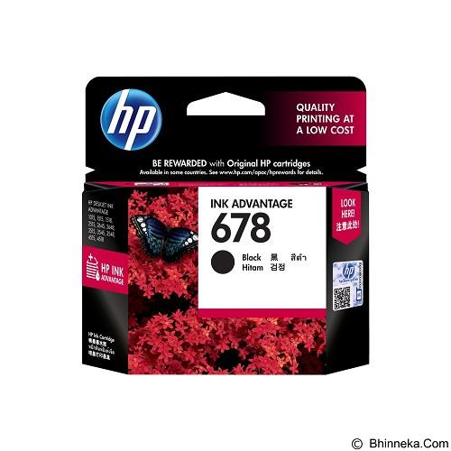 HP Black Ink Cartridge 678 [HP678B] (Merchant) - Tinta Printer Hp