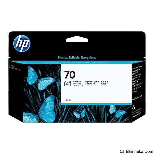 HP Black Photo Ink Cartridge 70 [C9449A] - Tinta Cartridge Wide Format Hp