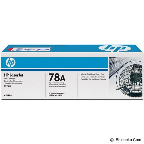 HP Black Toner 78A [CE278A] (Merchant) - Toner Printer Hp