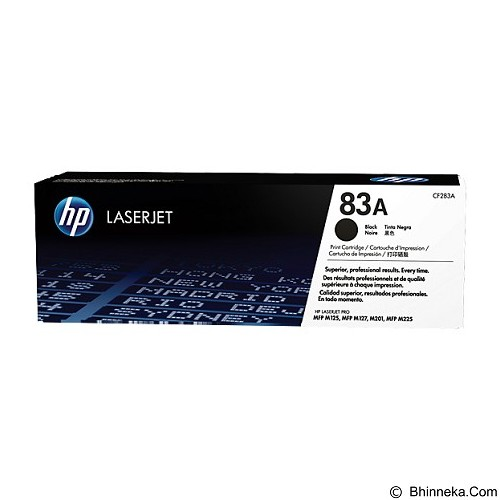 HP Black Toner 83A [CE283A] - Toner Printer Hp