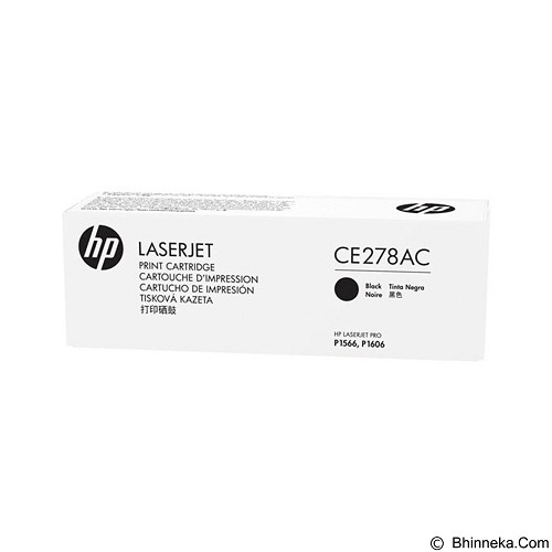 HP Business Black Contract Original LaserJet Toner Cartridge [CE278AC] - Toner Printer Hp