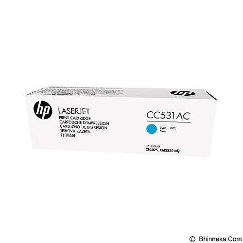 HP Business Cyan Contract Original LaserJet Toner Cartridge [CC531AC] - Toner Printer HP