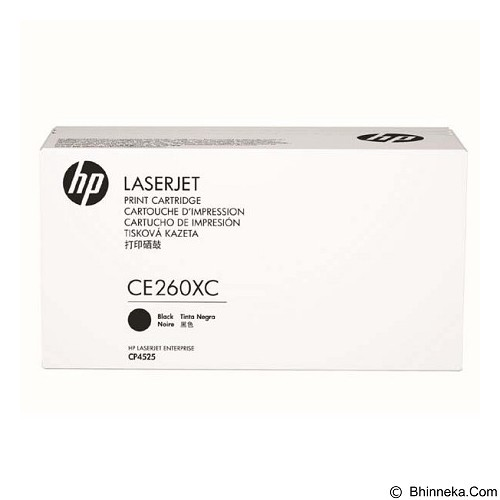HP Business High Yield Black Contract Original LaserJet Toner Cartridge [CE260XC] - Toner Printer Hp