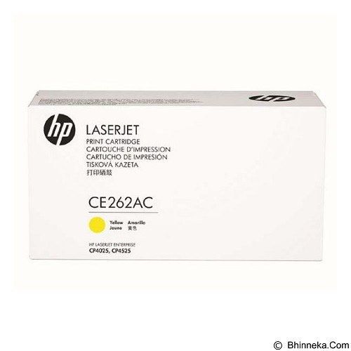 HP Business Yellow Contract Original LaserJet Toner Cartridge [CE262AC] - Toner Printer Hp