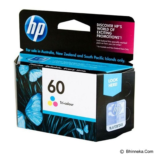 HP Color Ink Cartridge 60 (Merchant) - Tinta Printer Hp