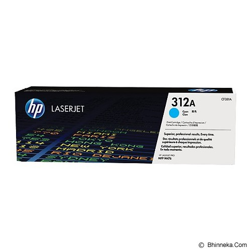 HP Cyan Toner 312A [CF381A] - Toner Printer Hp