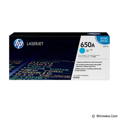 HP Cyan Toner 650A [CE271A] (Merchant) - Toner Printer HP