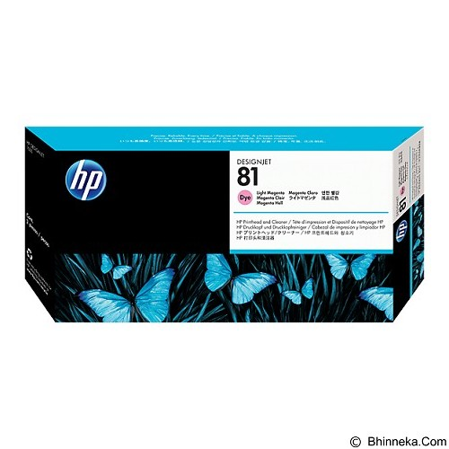 HP Light Magenta Dye Printhead and Printhead Cleaner 81 [C4955A] - Tinta Printer Wide Format HP