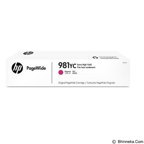 HP Business Magenta Contract PageWide Cartridge 981YC [L0R18YC] - Tinta Printer Wide Format HP