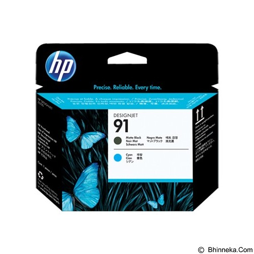 HP Matte Black and Cyan Ink Cartridge 91 [C9460A] - Tinta Printer Hp