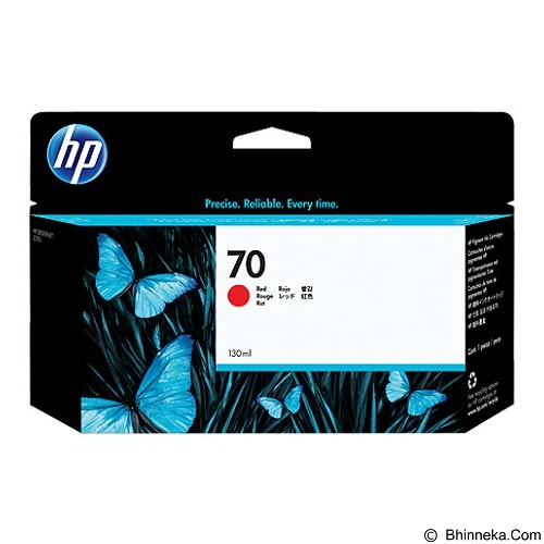 HP Red Ink Cartridge 70 [C9456A] - Tinta Printer Wide Format HP