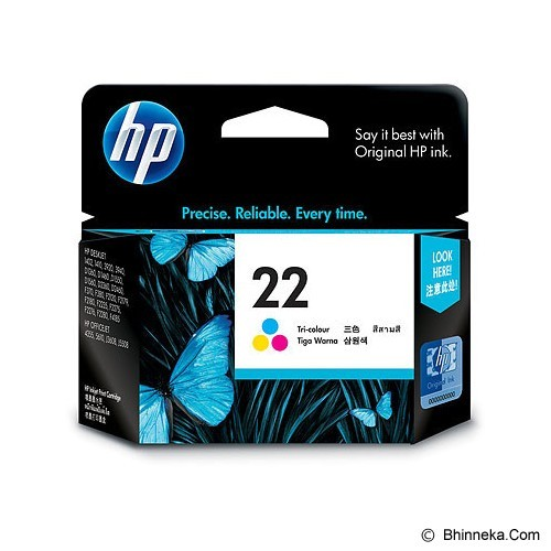 HP Tri-Color Ink Cartridge 22 [C9352AA] (Merchant) - Tinta Printer Hp