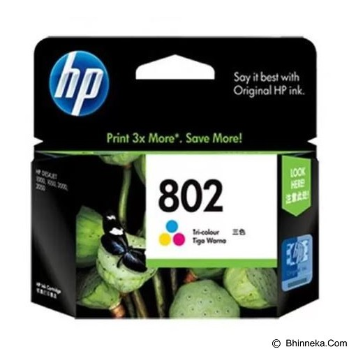 HP Tri Color Ink Cartridge 802 XL (Merchant) - Tinta Printer Hp