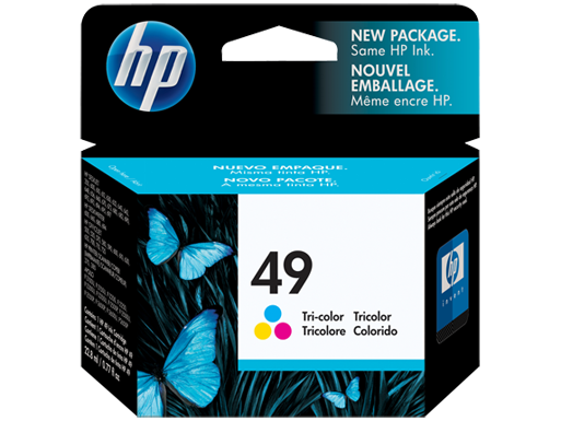 HP Tri Colour Ink Cartridge 49 - Tinta Printer Hp