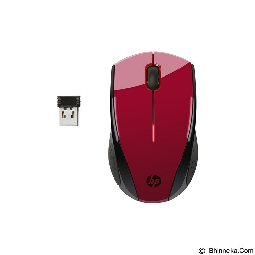HP Wireless MouseX3000  - Red (Merchant) - Mouse Desktop