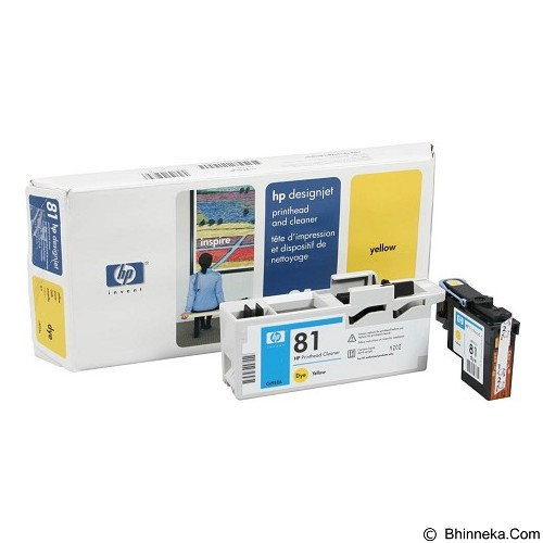 HP Yellow Dye Printhead and Printhead Cleaner 81 [C4953A] - Tinta Printer Wide Format HP