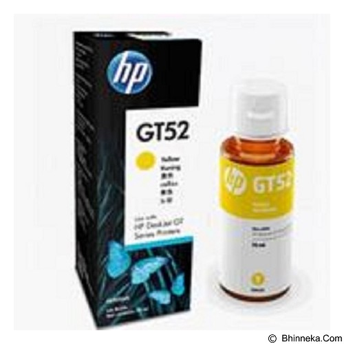 HP Yellow Ink Bottle GT52 [M0H56AA] (Merchant) - Tinta Printer Hp