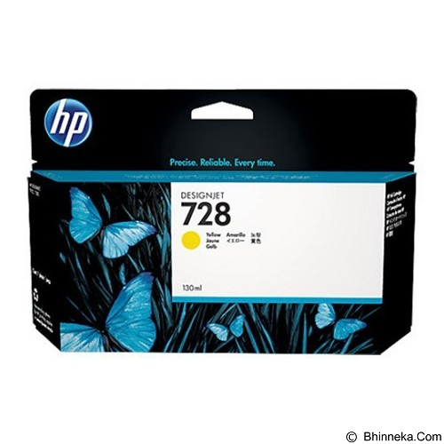 HP Yellow Ink Cartridge 728 [F9J65A] - Tinta Printer Wide Format HP