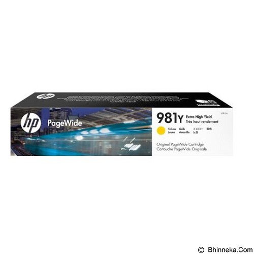 HP Yellow Original PageWide Cartridge 981Y [L0R15A] - Tinta Printer Wide Format HP