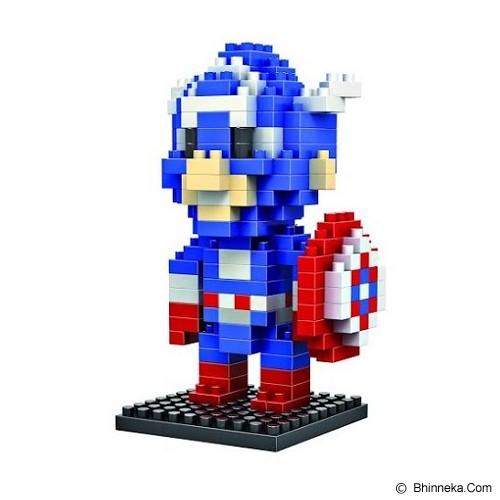 HSANHE Action Figure Nano Blocks World Series Captain America [116] - Building Set Movie