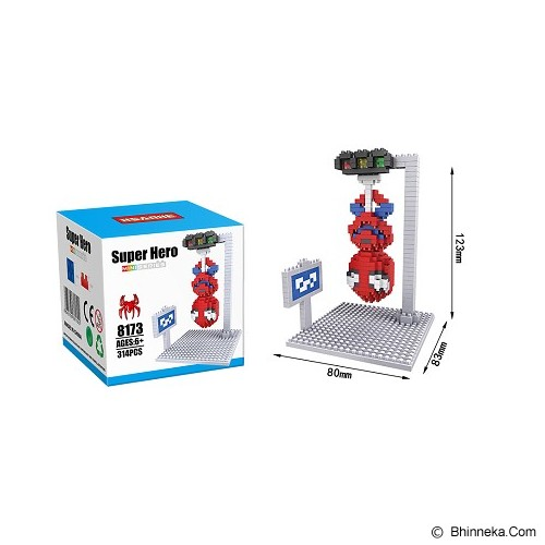 HSANHE BRICKS SPIDERMAN SCENE [8173] - Building Set Movie
