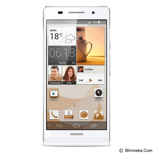 HUAWEI Ascend P6 - White (Merchant) - Smart Phone Android
