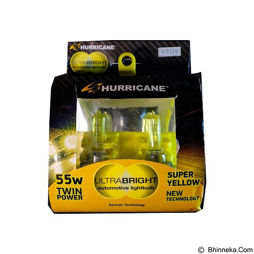HURRICANE Ultrabright H7 55W - Super Yellow (Merchant) - Lampu Mobil
