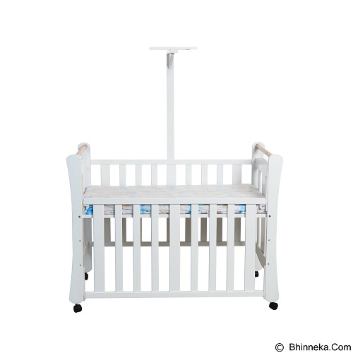 Hakari Baby Bed Bella [HK 044] - White (Merchant) - Baby Box