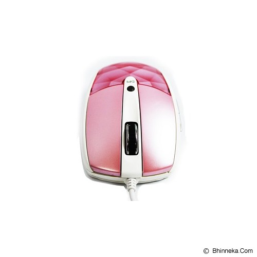 I-ROCKS Laser Mouse Diamond Cut 800/1600 DPI [IR-7610] - Pink - Mouse Desktop