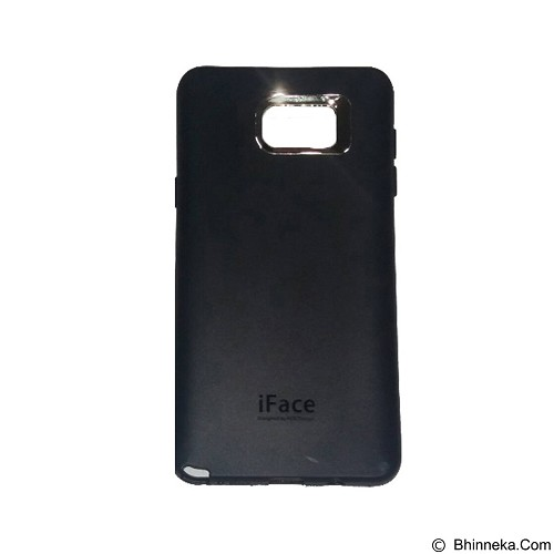 IFACE SOFTSHELL Silicon Case Samsung Galaxy Note 5 - Black (Merchant) - Casing Handphone / Case