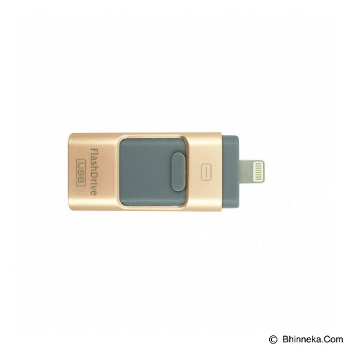 IFLASH 3in1 iOS Android Computer Aluminium Flashdrive 32GB - Gold - Usb Flash Disk Dual Drive / Otg
