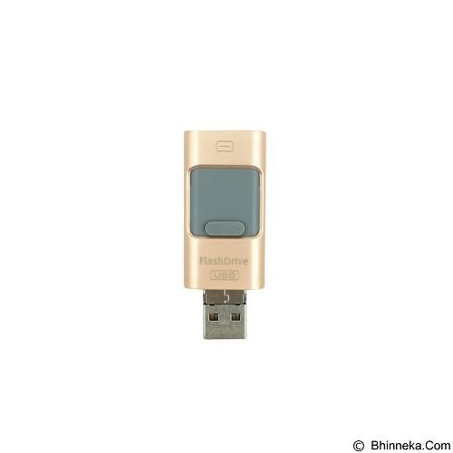 IFLASH 3in1 iOS Android Computer Aluminium Flashdrive 64GB - Gold - Usb Flash Disk Dual Drive / Otg