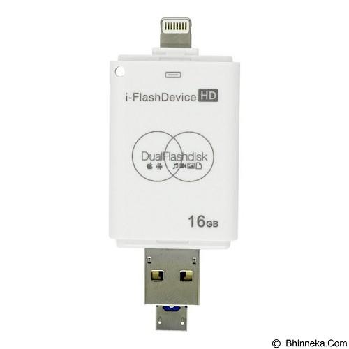 IFLASH 3in1 iOS Android Computer Flashdrive 16GB - Usb Flash Disk Dual Drive / Otg